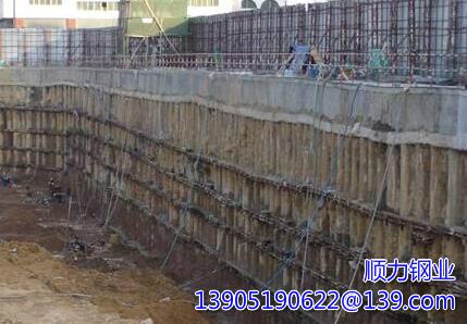 坑壁钢板桩